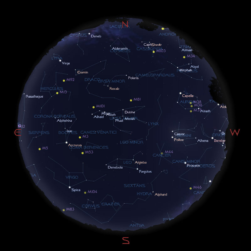 Sternhimmel im April